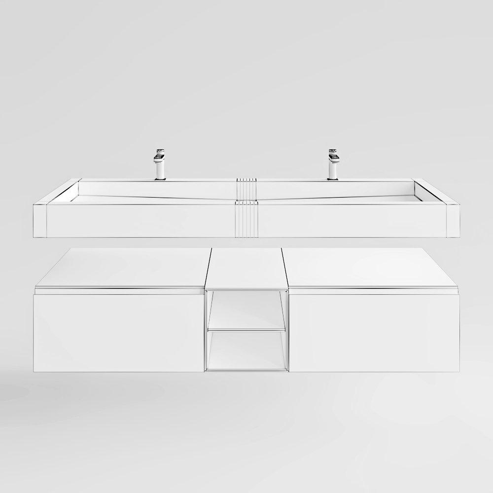 systempool krion ras series 3d-modell in badezimmer 3dexport, Badezimmer ideen