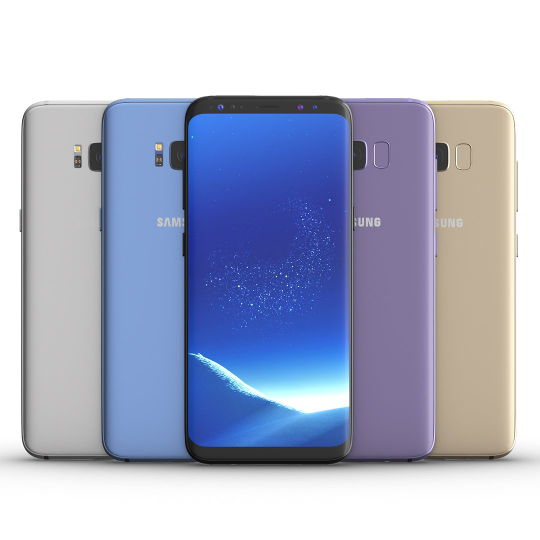 Samsung galaxy j7 for element 3d - Samsung Galaxy S8 All Colors For Element 3d And V Ray 3d Model