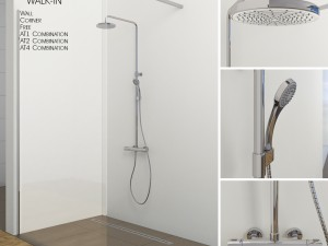 Shower Room Ravak Walk In 3D Modell