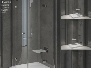 Shower Room RAVAK SmartLine 3D Modell