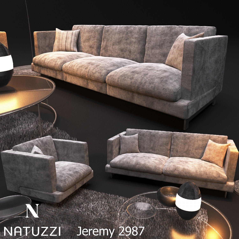 Sofa NATUZZI Jeremy 2987 3D Model in Sofa 3DExport