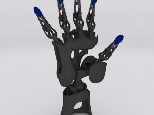 Biomimetic Articulated Hand 3D Model