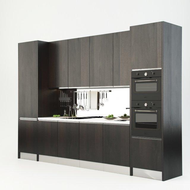 Attractive Modern Kitchen 3D Model