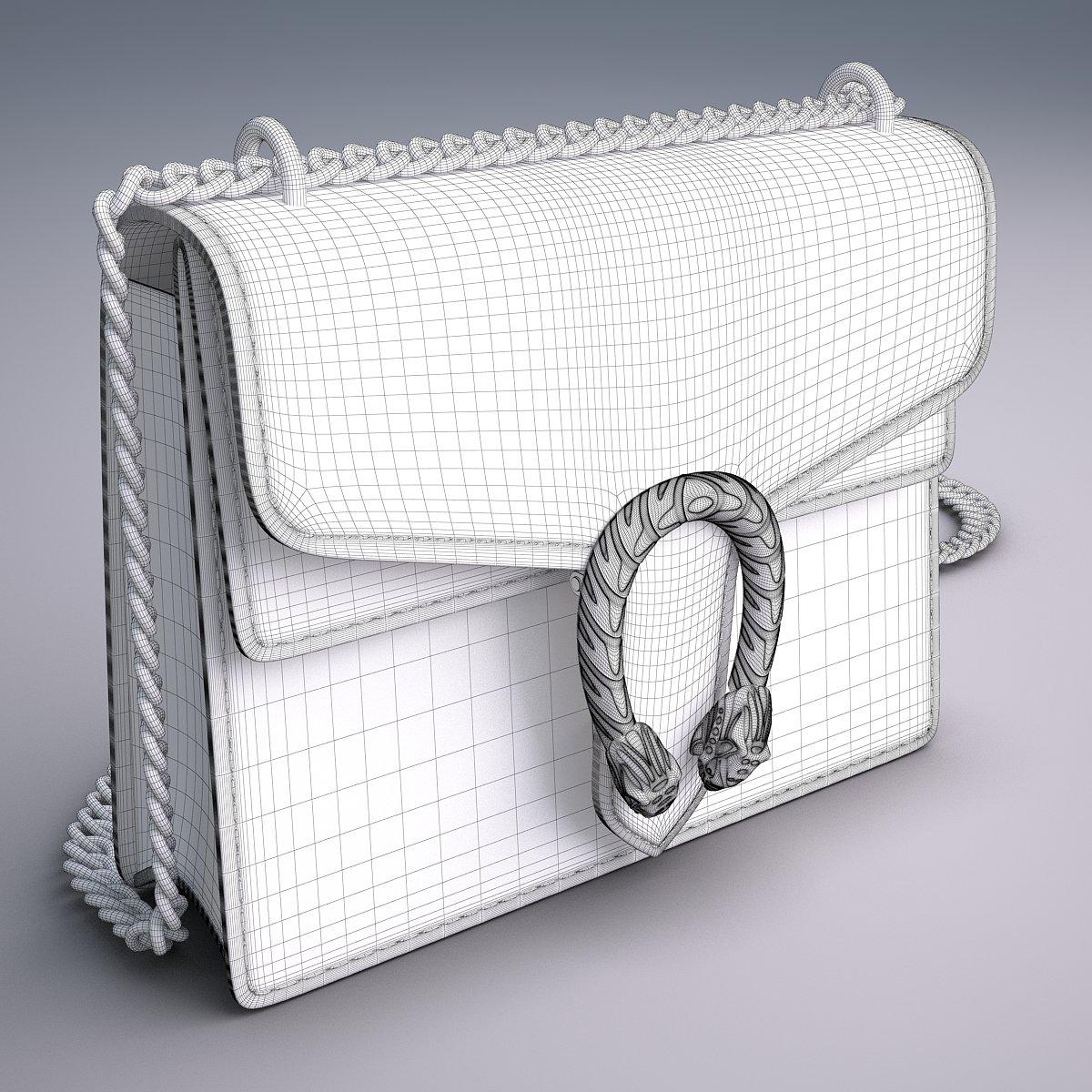 6cd314346d9 Gucci Dionysus GG Supreme mini bag 3D Model in Clothing 3DExport