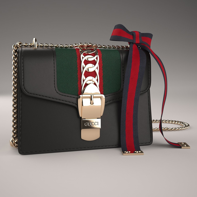 00c157b96df Gucci Sylvie Leather Mini Chain Bag 3D Model in Clothing 3DExport