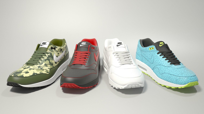 Air max 97 Nike PBR 3D Model in Clothing 3DExport