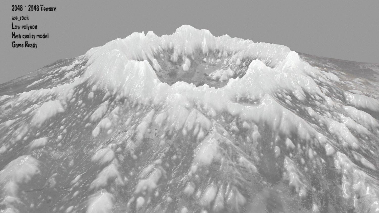 Snow volcano 3 3D Model in Other 3DExport