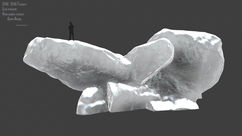 Snow ice rocks 3D Model in Other 3DExport