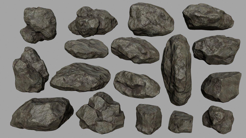 Rocks 3D Model in Other 3DExport