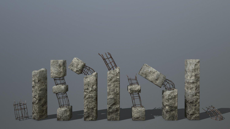 Old concrete pole 3D Model in Buildings 3DExport