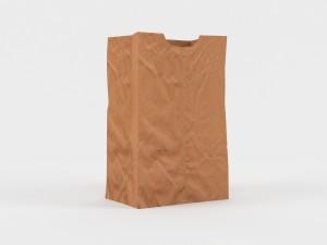 Schön Paper Bag Free 3D Modell