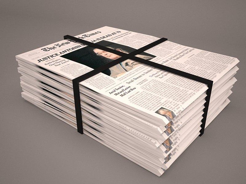 Newspaper 3D Model in Other 3DExport