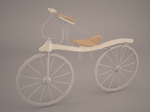 Levacher Velociped Boneshaker 3D Modell