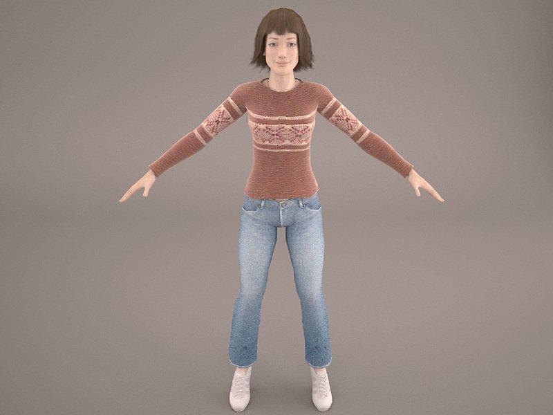 Female model 3d