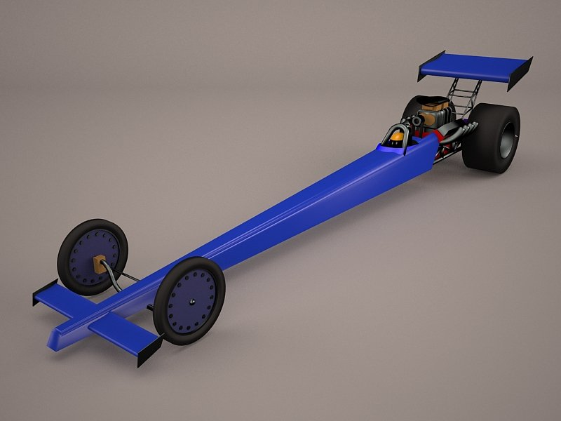 Top Fuel Dragster 3D Model in Racing 3DExport