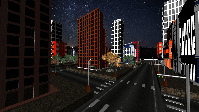 Dark City Free 3D Model in Buildings 3DExport