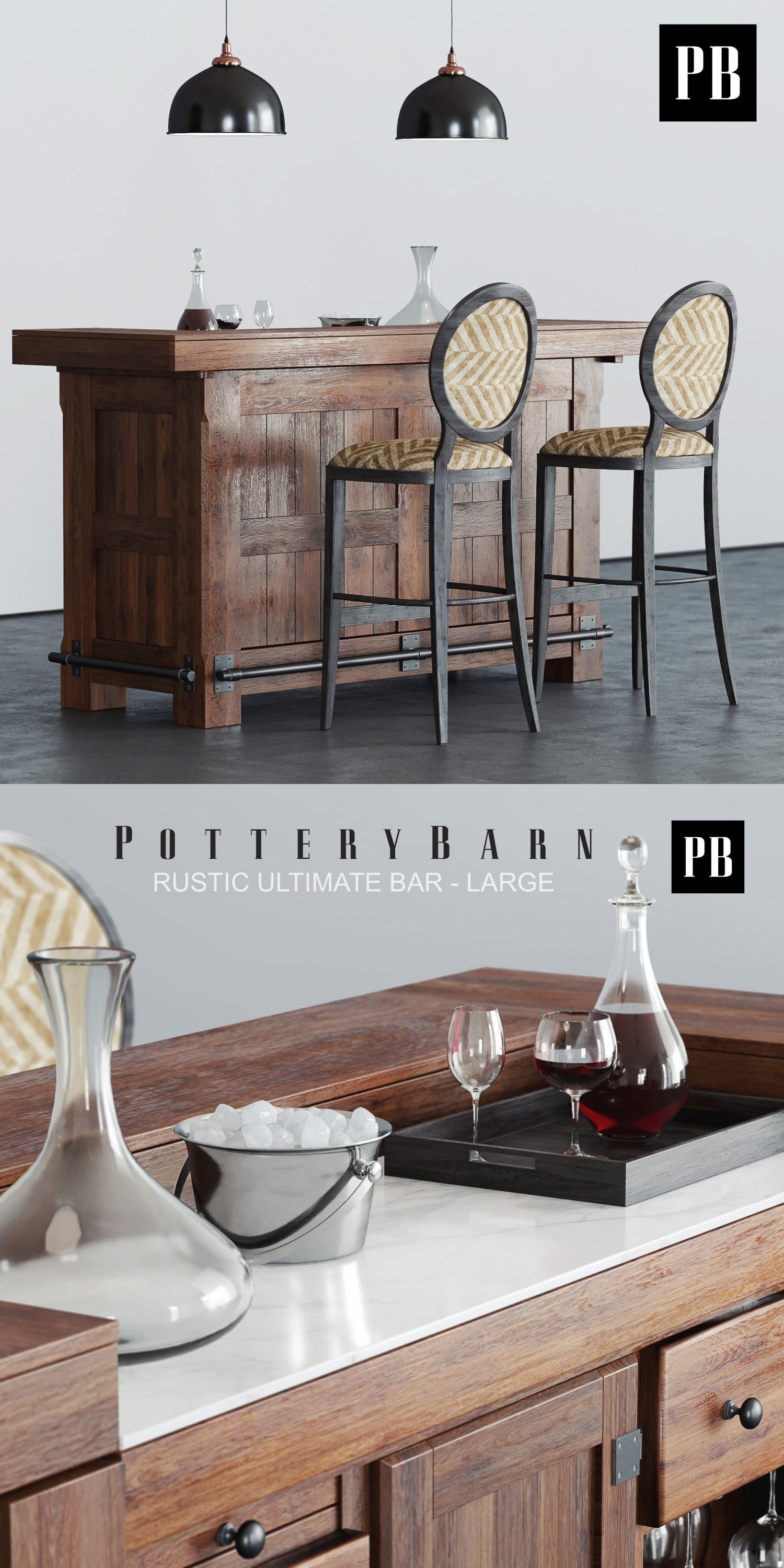 pottery barn rustic bar 3d model in set 3dexportpottery barn rustic bar remove bookmark bookmark this item