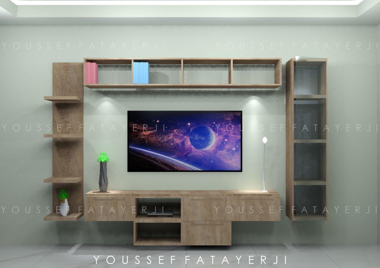 Modern Wooden Wall Mount Tv Setup Free 3d Model In Entertainment