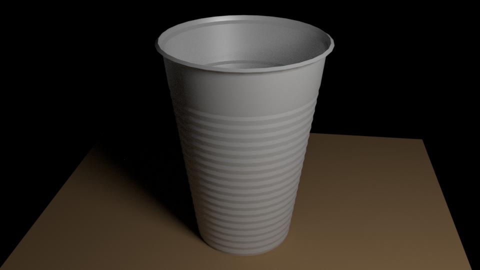 Plastic Cup 3D Model in Table 3DExport