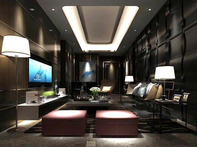 Stylish Avantgarde Living Room Design D Model In Living Room - Avant garde living rooms