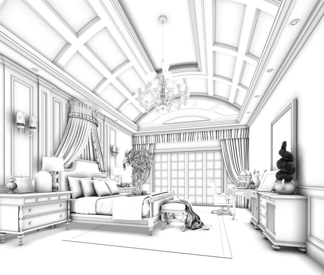 Stylish Master Bedroom Design 60 3d Model In Bedroom 3dexport