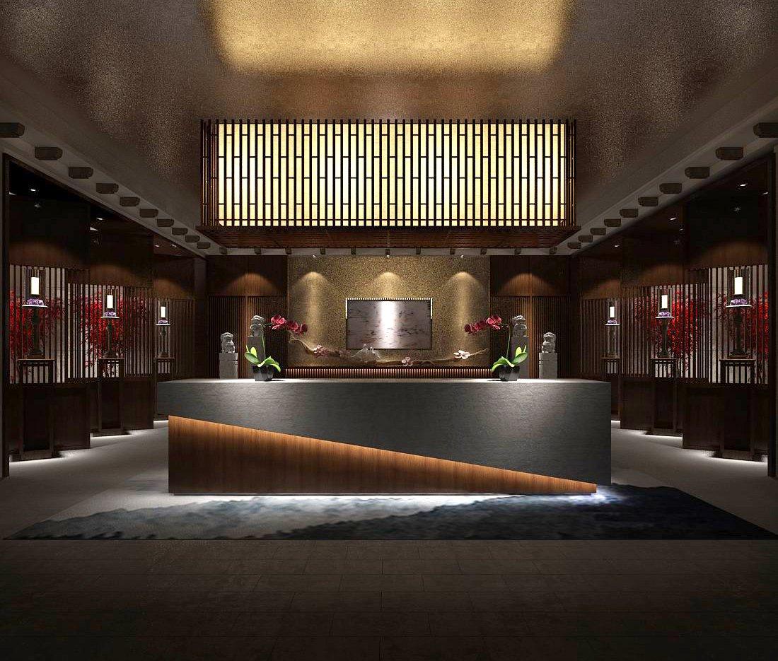 hotel reception hall design complete 07 3d model in office 3dexport