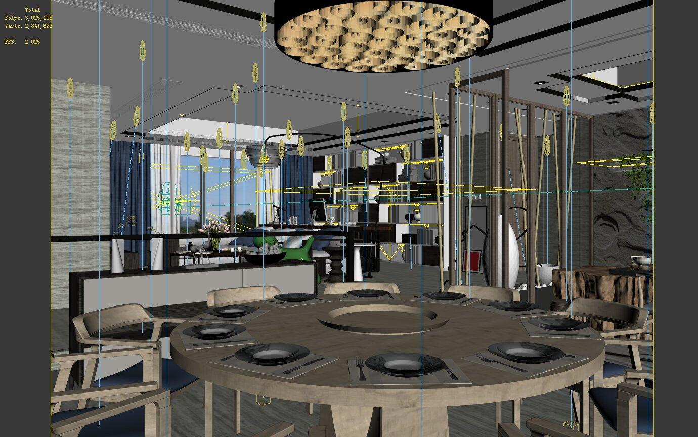 Family - kitchen - restaurant 66 3D Model in Dining Room 3DExport
