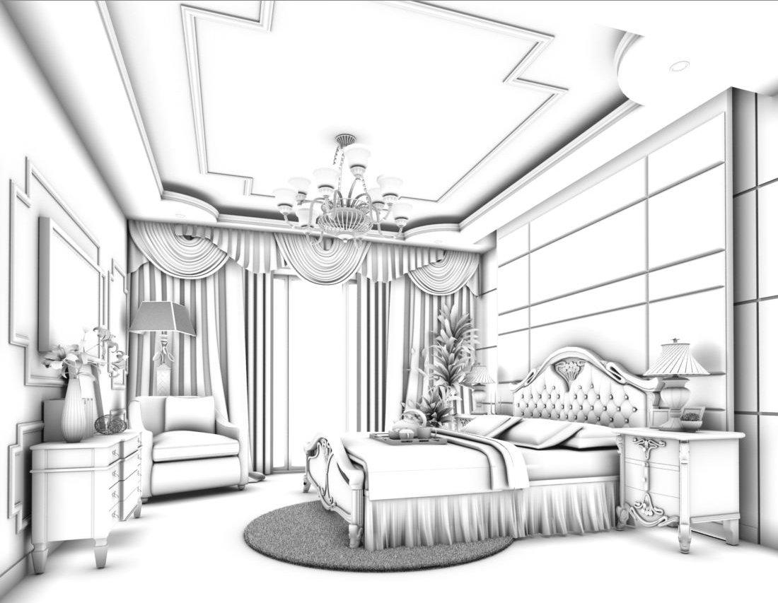 Luxury Stylish Interior Master Bedroom 51 3d Model In Bedroom 3dexport