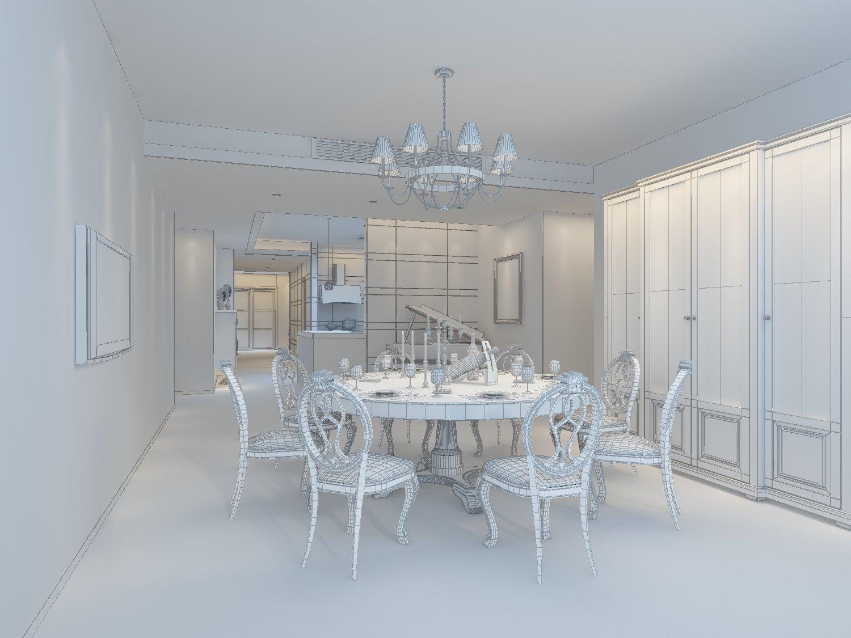 Family - kitchen - restaurant 387 3D Model in Dining Room 3DExport
