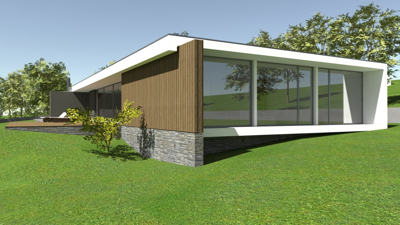 Modern house idea i 3d model