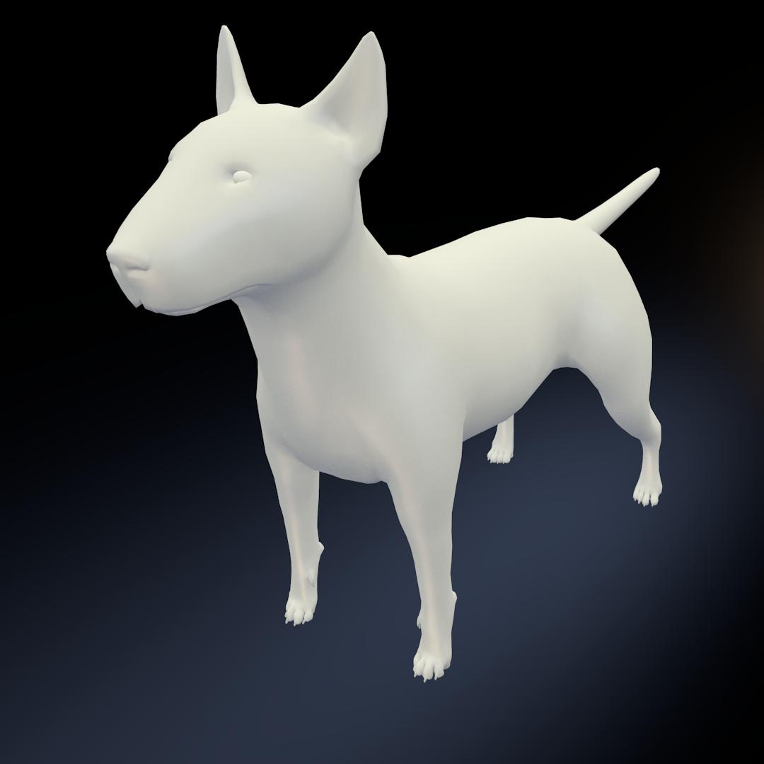 Bull Terrier Modelo 3D in Perros 3DExport