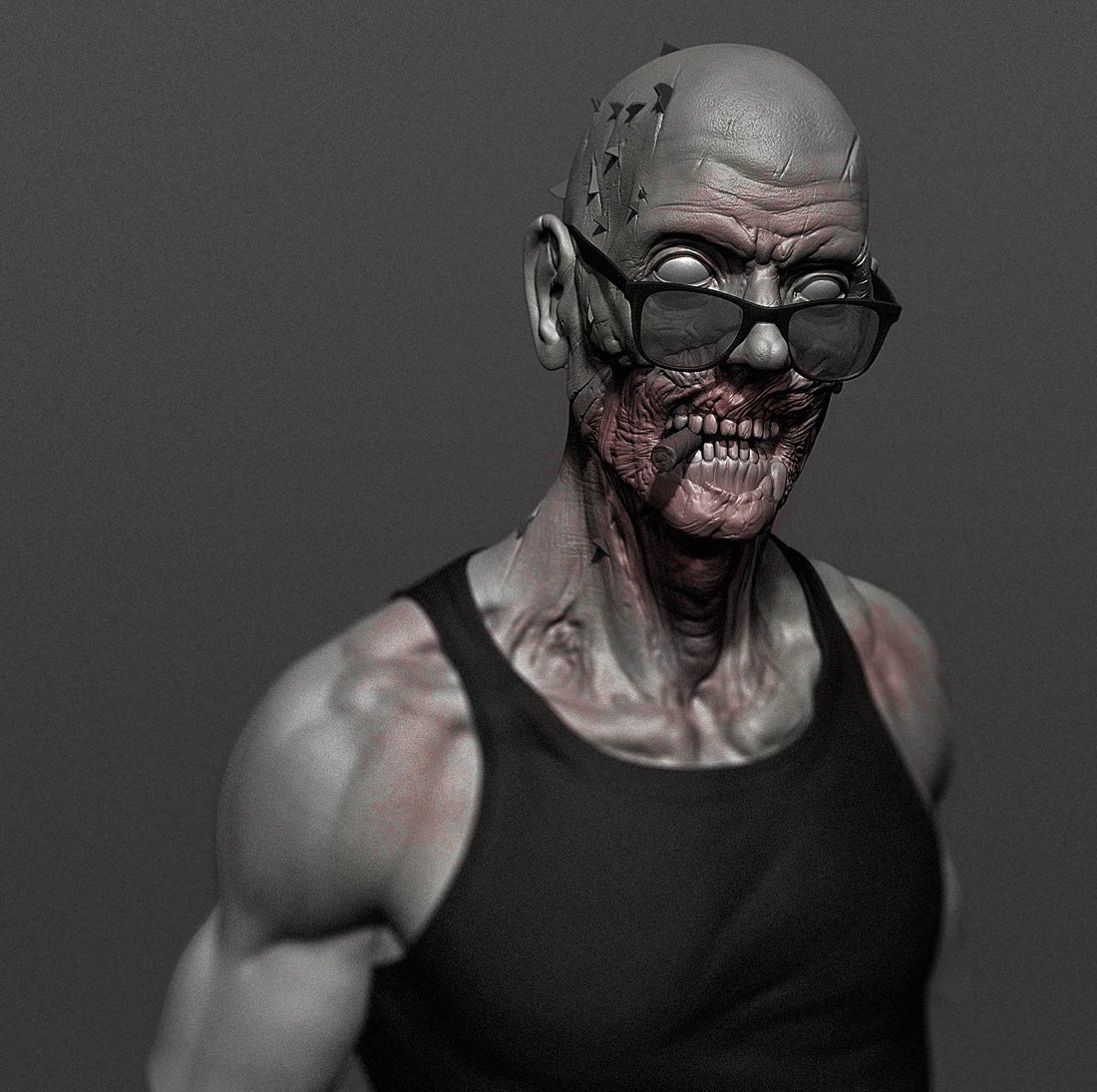 cool zombie 3d model in coins and badges 3dexport