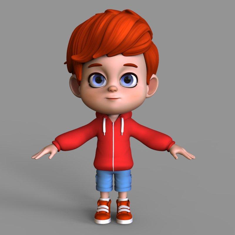 Cartoon character arnold 3d model in child 3dexport malvernweather Images
