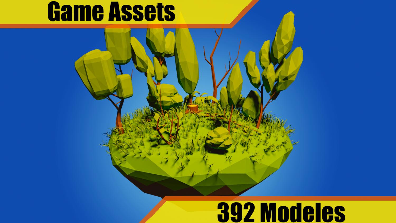 Low Poly Vegetation Pack Modelo 3D in Árbol 3DExport