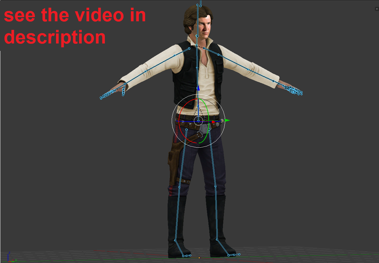 Han Solo 3D Model in Man 3DExport