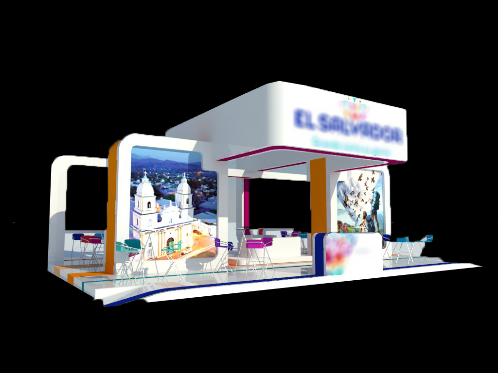Exhibition Stand Sketchup : Exhibition stand d model from creativecrash youtube
