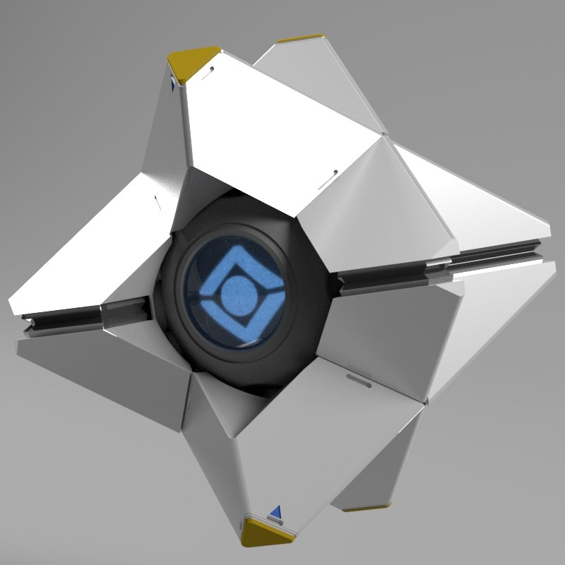 Destiny Ghost Papercraft : 10 Steps - Instructables | 800x800
