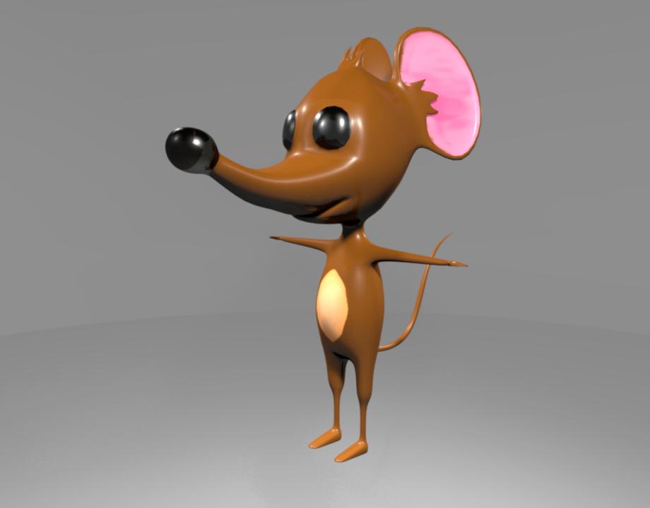 Cartoon Mouse 3d Model In Rodent 3dexport
