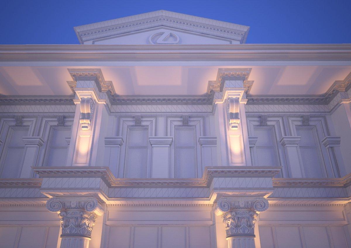 Classic Exterior Scene 3D Model in Buildings 3DExport