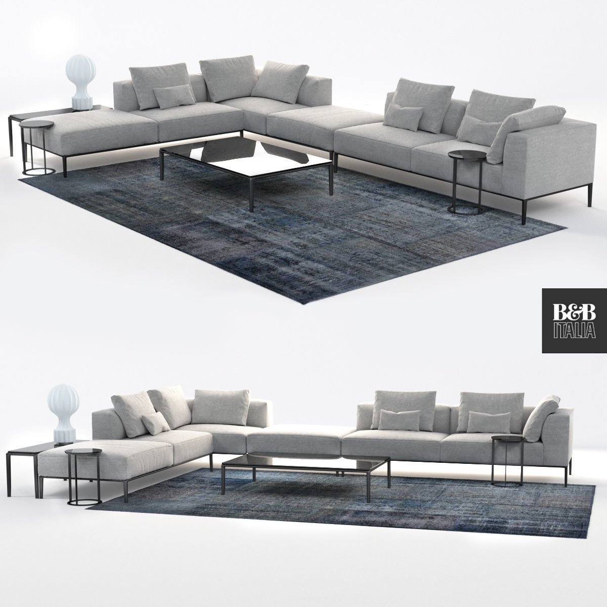 B and B Italia sofa michel effe 3D-Modell in Sofa 3DExport