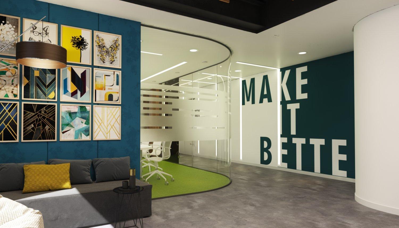Modern office interior design model 3D Model in Office 3DExport