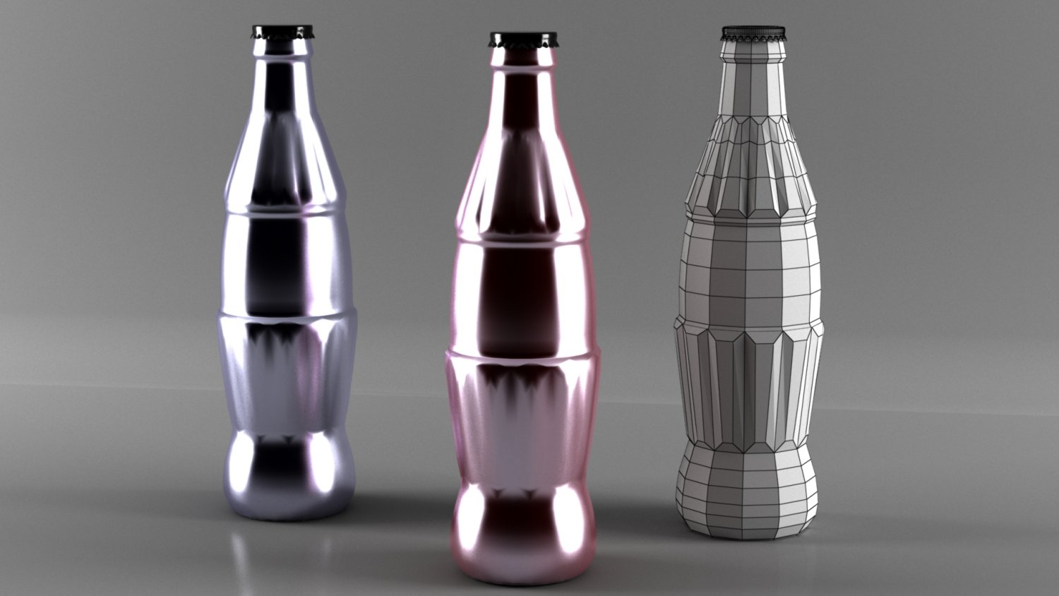 Coca cola bottle low poly Free 3D Model in Beverage 3DExport