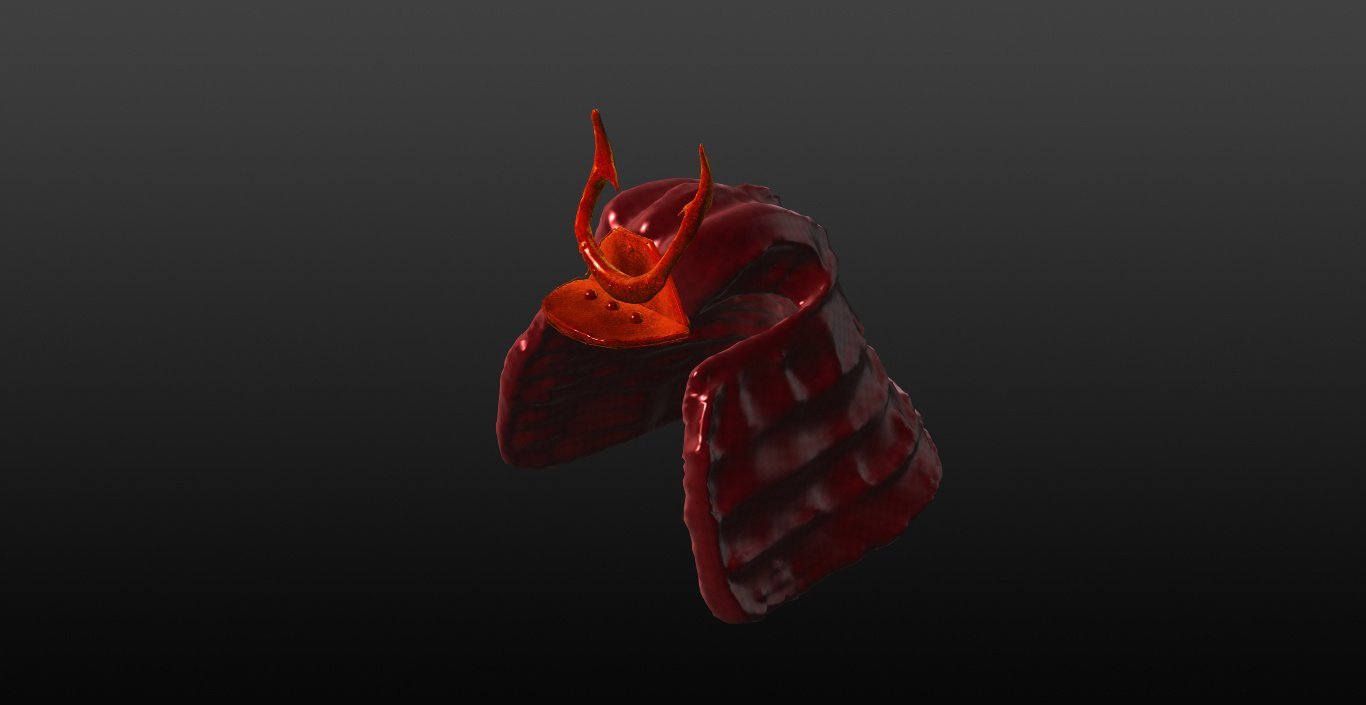 samurai helmet 3d model in helmet 3dexport