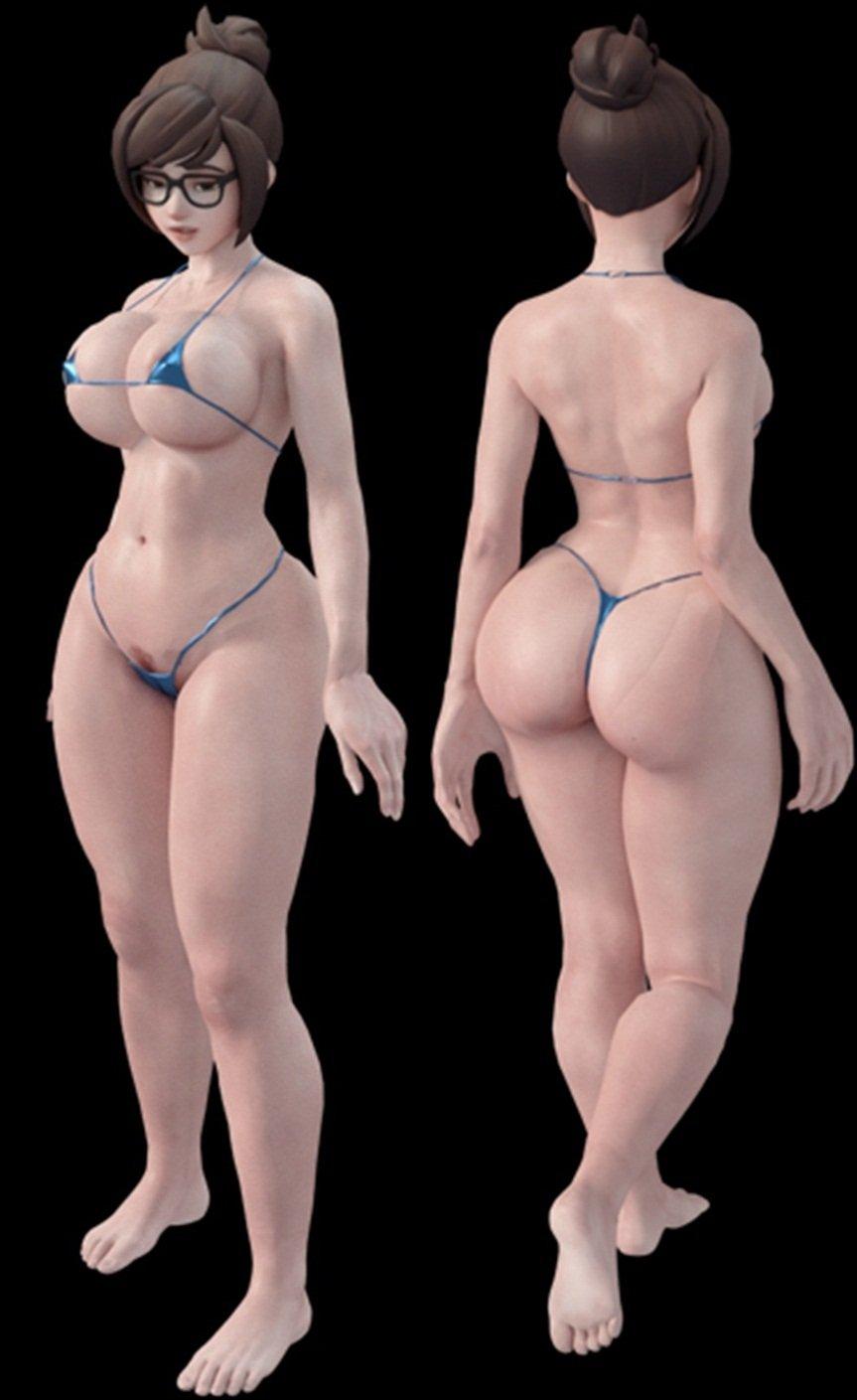 Model 3D nago Vega Vixen blowjob
