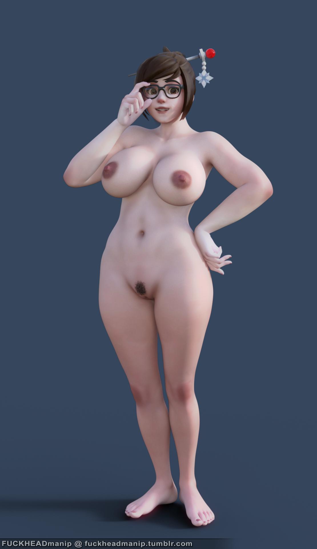 Nude overwatch mei Cosplay Mei