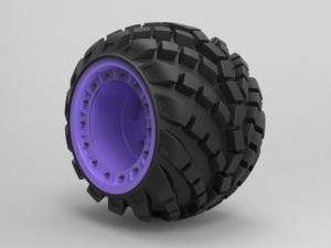 Arched Offroad Wheel 3D Modell