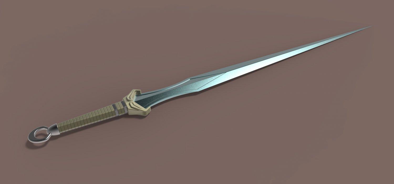 Sword of Valkyrie from Thor Ragnarok 3D Model in Melee 3DExport