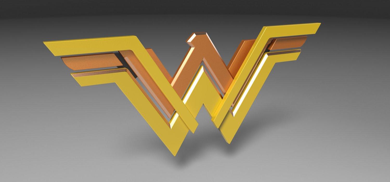 wonder woman logo for 3d printing
