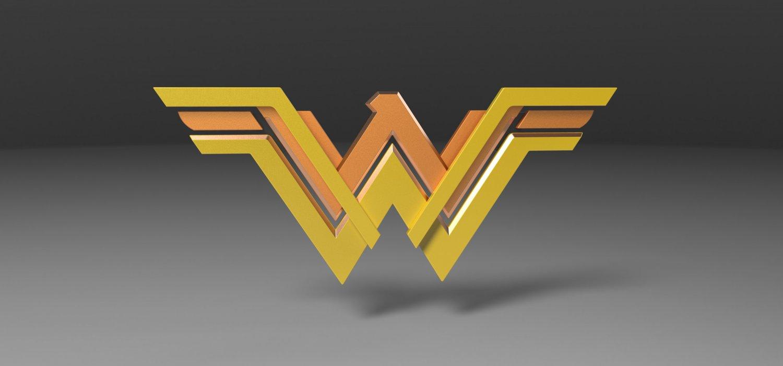wonder woman logo print ready 3d model