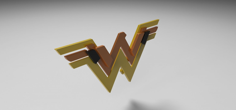 goddess superhero logo 3d model